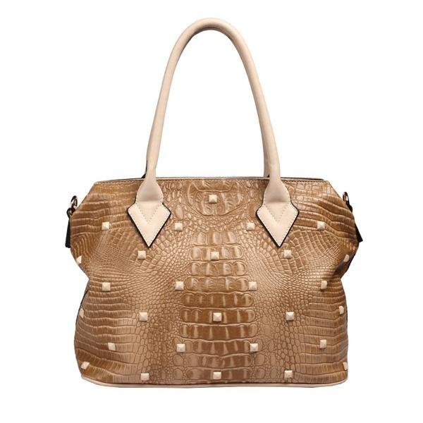 сумка жесткая коричневая